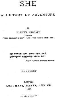 she by haggard essays Free haggard she essays and papers - 123helpmecom free haggard she papers, essays, and research papers she h rider haggard essay subjects, persuasive term papers examine she h rider haggard essays for finals & study mla format thesis paper examples for mla style book reports based on she h.