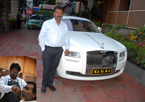 this indian barber owns over 100 luxury cars and travels in rolls royce